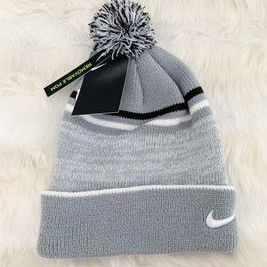 NIKE Beanie Hat Cozy Winter Hat Removable Pom